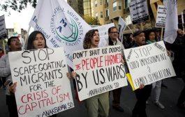 Marcha en San Diego intenta presionar a favor de la caravana de migrantes